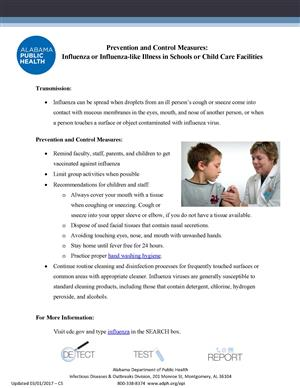 Flu Prevention Information in English