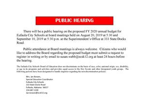 Public Budget Hearings