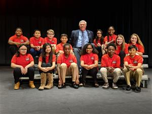 Mayor Tibbs with Student Council